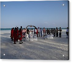 wedding with Maasai singers Acrylic Print