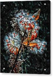 Weed Galaxy Painted Version  Acrylic Print by Steve Harrington
