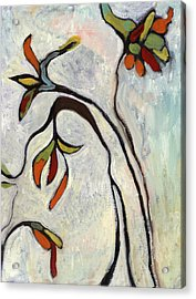 Acrylic Print featuring the painting Weeds2 by Michelle Spiziri