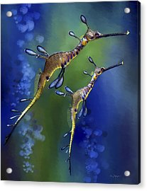 Acrylic Print featuring the digital art Weedy Sea Dragon by Thanh Thuy Nguyen