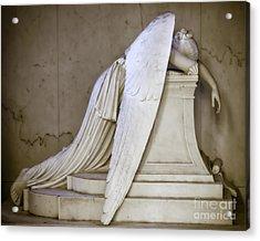 Weeping Angel - Antiqued Acrylic Print