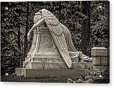 Weeping Angel - Sepia Acrylic Print