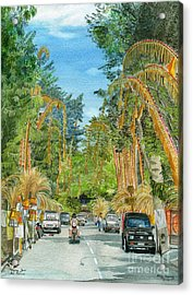 Acrylic Print featuring the painting Weeping Janur Bali Indonesia by Melly Terpening