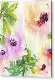 Acrylic Print featuring the painting Weeping Rose Forest by Colleen Taylor
