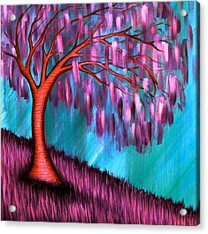 Weeping Willow II Acrylic Print by Brenda Higginson