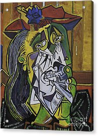 Picasso's Weeping Woman Acrylic Print