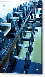 Weights Vertical Acrylic Print