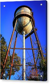 Acrylic Print featuring the photograph Weighty Water Cotton Mill  Water Tower Art by Reid Callaway