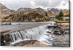 Weirs Rapids Snowdonia Acrylic Print by Adrian Evans