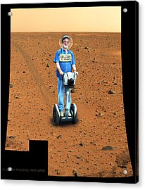 Welcom To Mars Acrylic Print