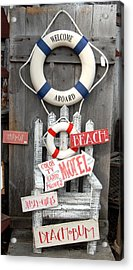 Welcome Aboard Acrylic Print by Joyce StJames