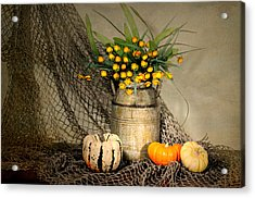 Welcome Autumn Acrylic Print by Diana Angstadt