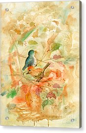 Welcome Autumn Acrylic Print by Marilyn Smith