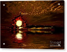 Welcome Beach Sunset 2 Series 1 Acrylic Print
