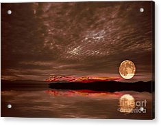 Welcome Beach Supermoon Acrylic Print