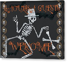 Welcome Ghoulish Guests Acrylic Print by Debbie DeWitt