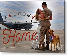 Acrylic Print featuring the digital art Welcome Home by Kathy Tarochione