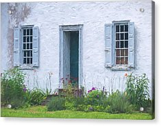 Welcome Home Old Door And Windows Acrylic Print by Terry DeLuco