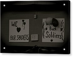 Welcome Home Soldiers Acrylic Print by Aimee Galicia Torres