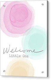 Welcome Little One- Art By Linda Woods Acrylic Print by Linda Woods