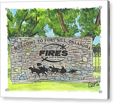 Welcome Sign Fort Sill Acrylic Print