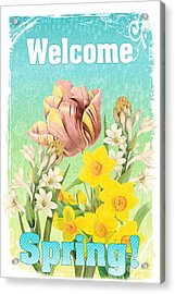 Welcome Spring Flowers-jp2775 Acrylic Print by Jean Plout