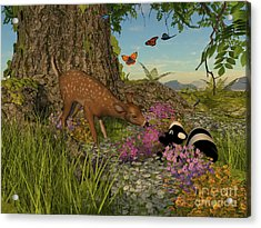 Welcome Spring Acrylic Print by Methune Hively