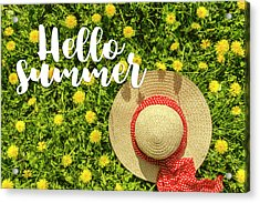 Acrylic Print featuring the photograph Welcome Summer by Teri Virbickis