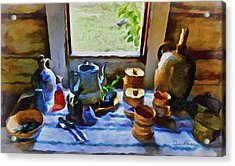 Acrylic Print featuring the painting Welcome Table by Joan Reese