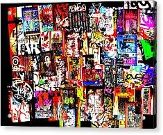 Welcome To Barcelona Graffiti Nirvana Acrylic Print by Funkpix Photo Hunter
