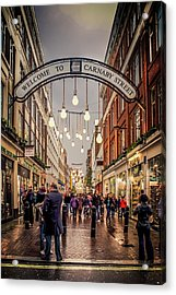 Welcome To Carnaby Street London Acrylic Print by Alex Saunders