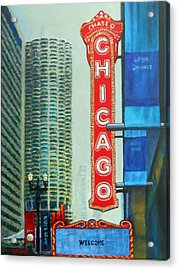 Welcome To Chicago Acrylic Print by Michael Durst