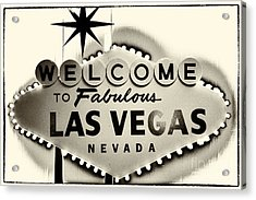 Welcome To Fabulous Las Vegas Nevada Acrylic Print by Leslie Leda