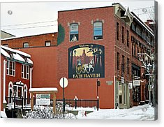 Welcome To Fairhaven Acrylic Print by Matthew Adair