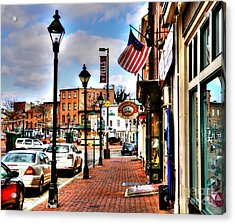 Welcome To Fells Point Acrylic Print by Debbi Granruth