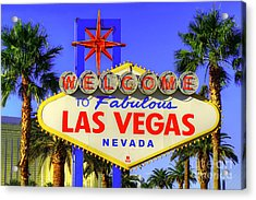 Welcome To Las Vegas Acrylic Print by Anthony Sacco