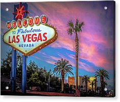 Welcome To Las Vegas Acrylic Print