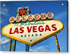 Welcome To Las Vegas Sign Acrylic Print