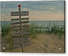 Welcome To Manasquan Acrylic Print by Robert Pilkington