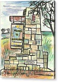 Welcome To Minnesota Acrylic Print by Matt Gaudian