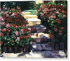 Welcome To My Garden Acrylic Print by David Lloyd Glover