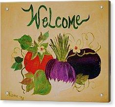 Welcome To My Kitchen Acrylic Print by Alanna Hug-McAnnally