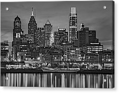 Welcome To Penn's Landing Bw Acrylic Print