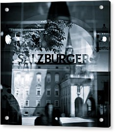 Welcome To Salzburg Acrylic Print by Dave Bowman