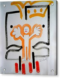 Acrylic Print featuring the painting welcome to the U N by Charles Stuart