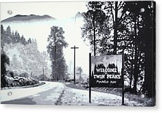 Welcome To Twin Peaks Acrylic Print