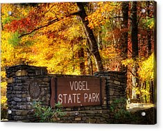 Welcome To Vogel State Park Acrylic Print