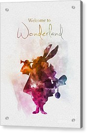 Welcome To Wonderland Acrylic Print by Rebecca Jenkins