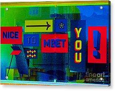 Welcoming  Acrylic Print by Marcia Lee Jones