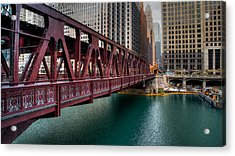 Well Street Bridge, Chicago Acrylic Print